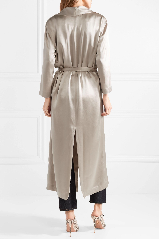 Michelle Mason Belted silk-charmeuse robe