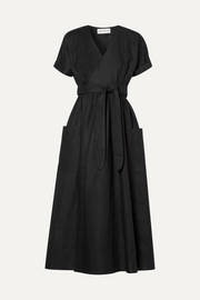 Mara Hoffman Ingrid hemp wrap midi dress