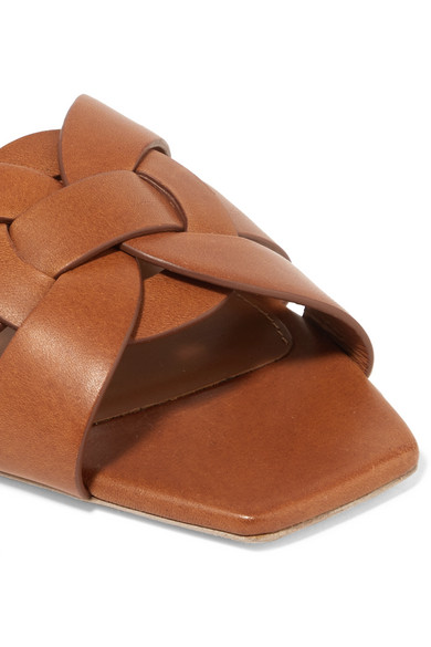 c6f8e08b7 Saint Laurent. Woven leather slides.  595. Zoom In