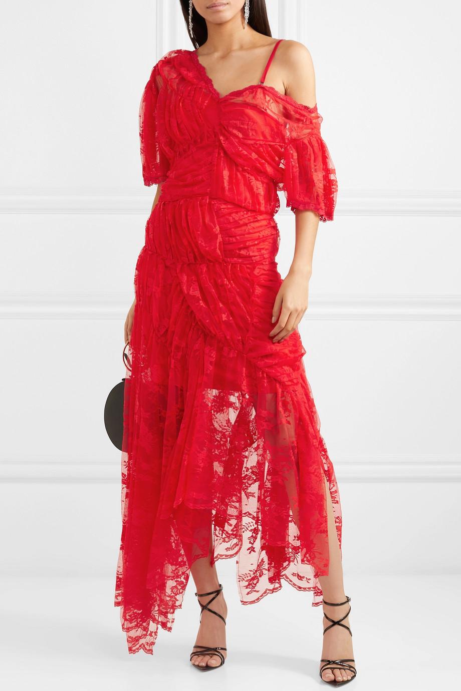 Preen by Thornton Bregazzi Tessie lace midi dress