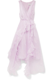 Blanche ruffled silk-organza midi dress