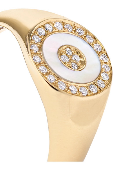 Douce Cavalcade 18-karat Gold, Diamond And Mother-of-pearl Ring - 7 Anissa Kermiche