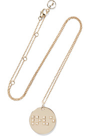 Love is Blind 9-karat gold diamond necklace