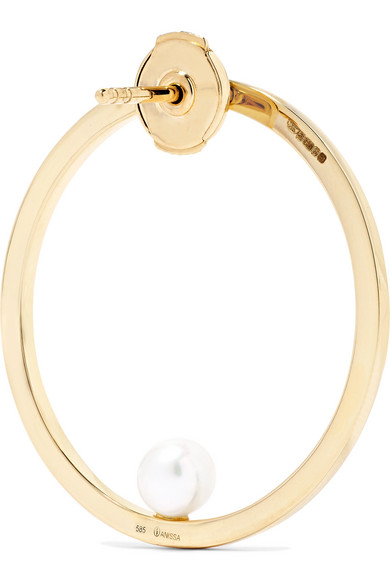 Anissa Kermiche Reine 14-karat Gold, Diamond And Pearl Earring
