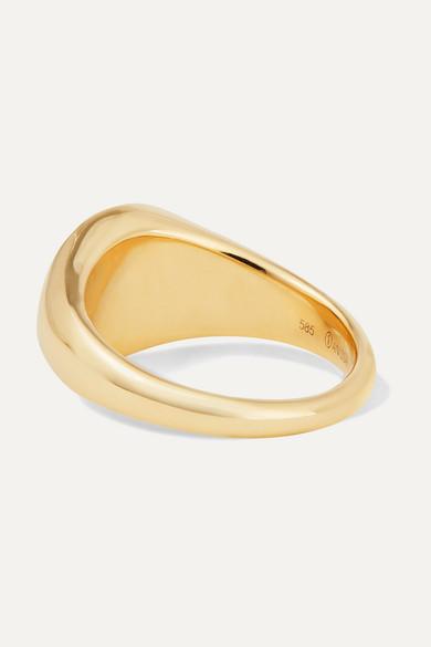 Anissa Kermiche 14-karat Gold, Onyx And Diamond Ring