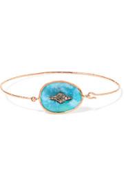 Garance N°2 9-karat rose gold, turquoise and diamond bracelet
