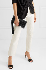 Stella bead-embellished satin clutch