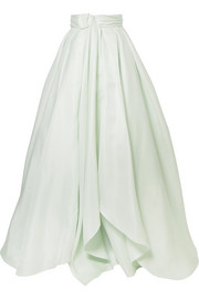 Knotted silk-gazar maxi skirt