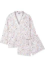 Marina and Paloma printed cotton-poplin pajama set