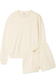 Kate French cotton-terry pajama set