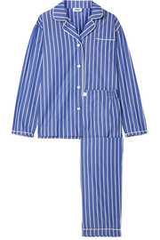 Bishop striped cotton pajama set