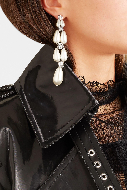 Simone Rocha Silver-tone, crystal and faux pearl earrings
