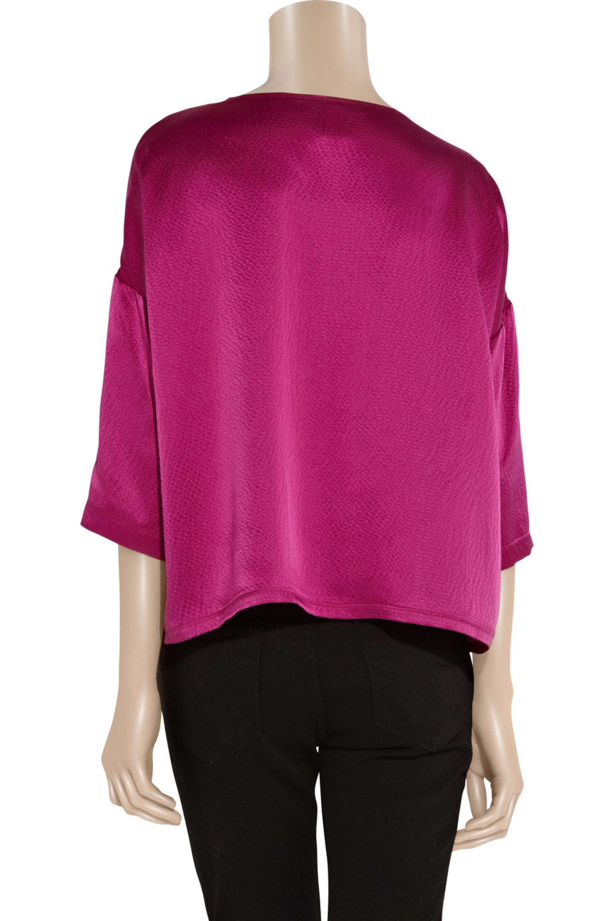 Marc by Marc Jacobs Hayley hammered silk-satin top