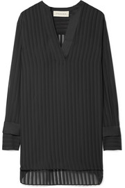 Cobona striped organza blouse