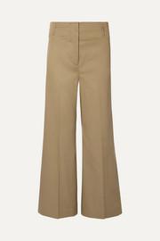 d0a027174b9ce Attico   Pantalon large à pinces en satin de coton mélangé   NET-A ...