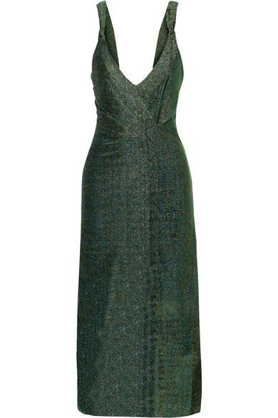 By Malene Birger Mn Lurex Dress In Green