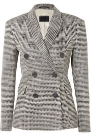 Zozima double-breasted cotton-blend tweed blazer