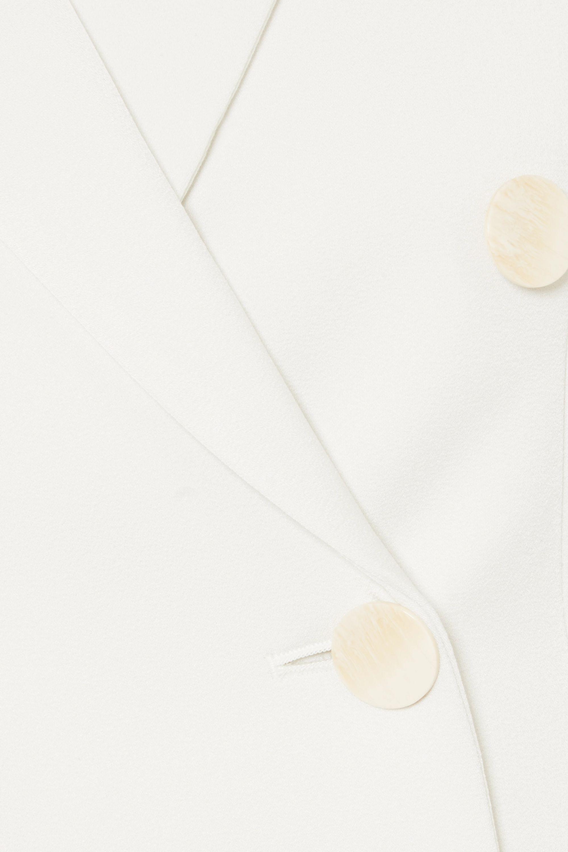 By Malene Birger Yamiga double-breasted satin-crepe blazer