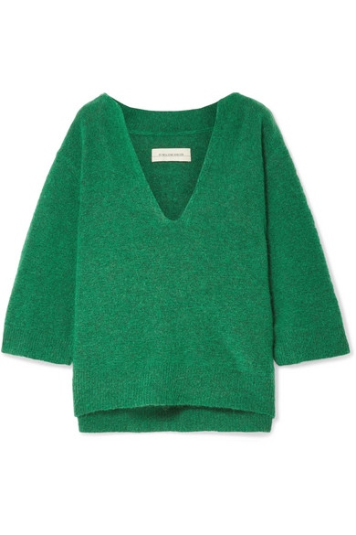 By Malene Birger - Wanlay Cropped Knitted Sweater - Green