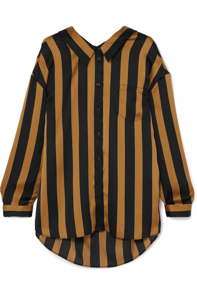 Nipella Striped Satin Blouse by By Malene Birger