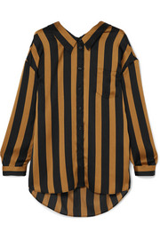 Nipella striped satin blouse