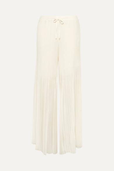 By Malene Birger Ohana Hose mit weitem Bein aus plissiertem Chiffon