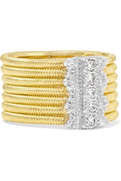 Buccellati Hawaii 18-karat Yellow And White Gold Diamond Ring Y4q5Kc7