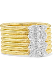 Hawaii 18-karat yellow and white gold diamond ring