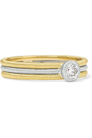 Buccellati - Hawaii 18-karat Yellow And White Gold Diamond Ring