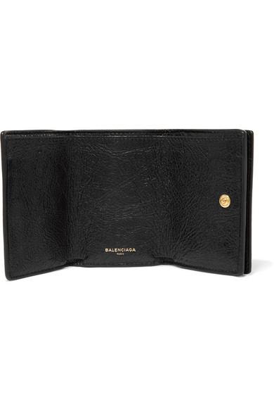 Balenciaga Wallets Classic City mini textured-leather wallet