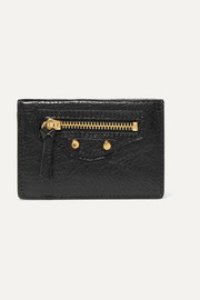 Classic City mini textured-leather wallet