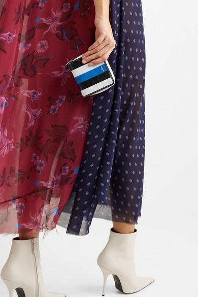 Verkauf Offizielle Amazonas Balenciaga Bazar gestreiftes Portemonnaie aus strukturiertem Leder Abstand Rabatt 1zusllOA