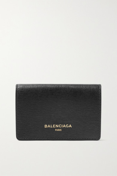Printed Textured-leather Continental Wallet - Black Balenciaga osOHl6j79