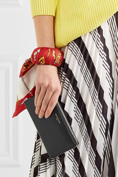 Balenciaga Portemonnaie im europäischen Stil aus strukturiertem Leder