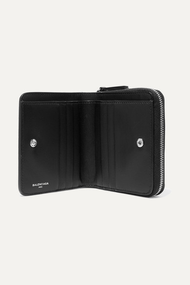Printed Textured-leather Wallet - Black Balenciaga bhBPmd