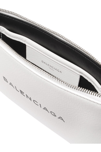 Balenciaga Beutel aus strukturiertem Leder mit Logoprint