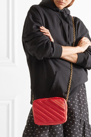 Blanket Reporter XS printed quilted leather shoulder bag