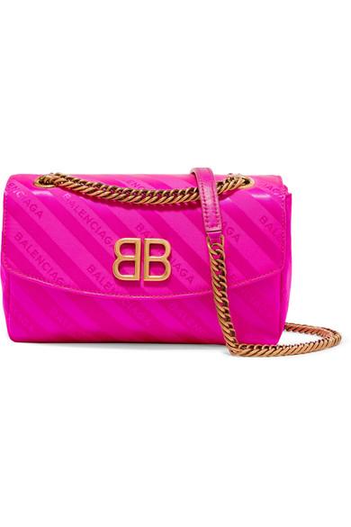 Chain Round S jacquard shoulder bag Balenciaga VtRrt