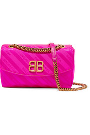 BB neon jacquard shoulder bag
