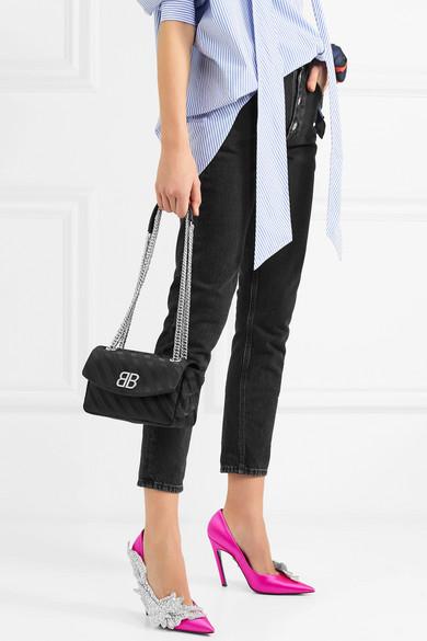 Balenciaga BB Schultertasche aus Jacquard
