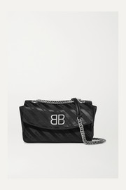 BB jacquard shoulder bag