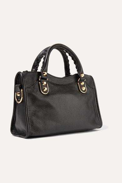 024a2b6f7c4f2 Balenciaga. Classic Metallic Edge City mini textured-leather ...