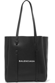 Balenciaga XS printed textured-leather tote