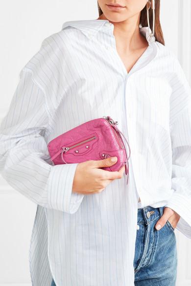 Balenciaga Classic Reporter XS Schultertasche aus strukturiertem Leder
