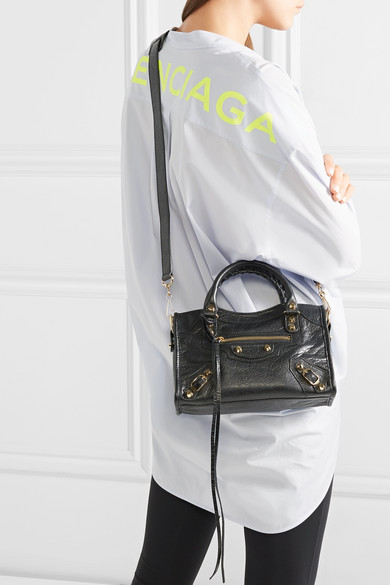select for original distinctive design 50-70%off Balenciaga | Classic City mini textured-leather tote | NET-A ...