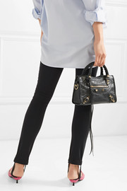Classic City mini textured-leather tote