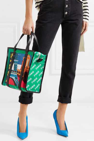 Bazar Paris Small Printed Textured Leather Tote
