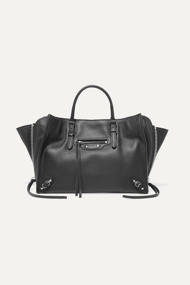 Papier A6 small textured-leather tote by Balenciaga, available on net-a-porter.com for EUR1250 Abbey Clancy Bags Exact Product