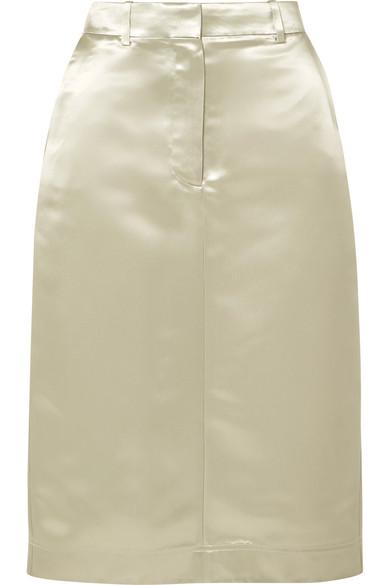 dfa72e3d37 CALVIN KLEIN 205W39NYC | Satin midi skirt | NET-A-PORTER.COM