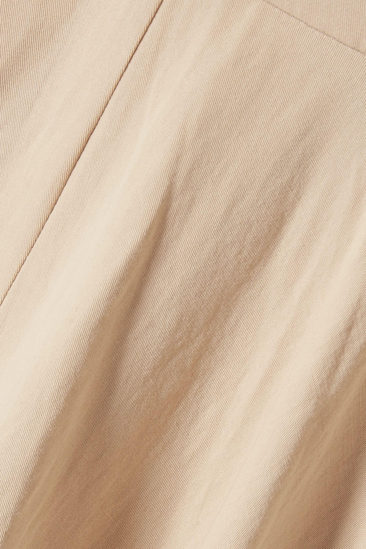 Co Off-the-shoulder cotton and linen-blend midi dress